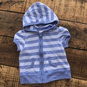 (4 for $5) Baby Short Sleeve Hooded Zip Up
